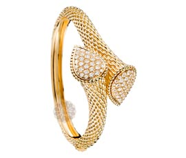 Vogue Crafts and Designs Pvt. Ltd. manufactures Textured Golden Handcuff at wholesale price.
