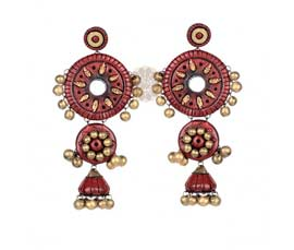 Red Tribe Earrings