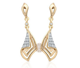 Unique Shape Gold Plated Earrings