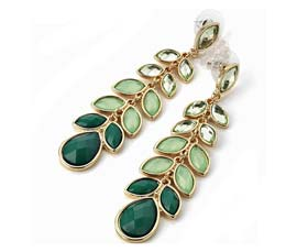 Vogue Crafts and Designs Pvt. Ltd. manufactures Unveil Greenery Earrings at wholesale price.