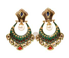 Vogue Crafts and Designs Pvt. Ltd. manufactures Royal Tradition Earrings at wholesale price.