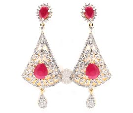 Vogue Crafts and Designs Pvt. Ltd. manufactures Glamorous Pink  Drop Earrings at wholesale price.