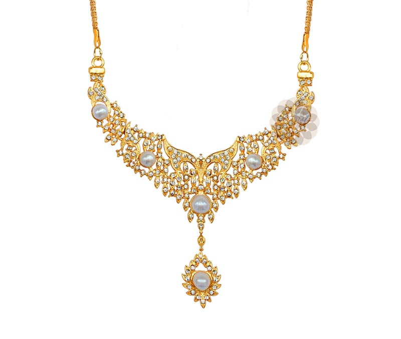 Vogue Crafts & Designs Pvt. Ltd. manufactures Gold Plated Butterfly Motif Necklace at wholesale price.