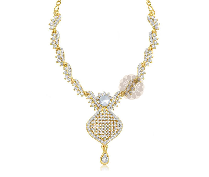 Vogue Crafts & Designs Pvt. Ltd. manufactures Admired Gold Plated Drop necklace at wholesale price.