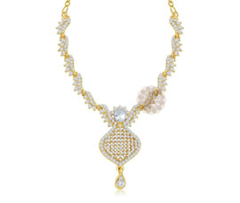Vogue Crafts and Designs Pvt. Ltd. manufactures Admired Gold Plated Drop necklace at wholesale price.