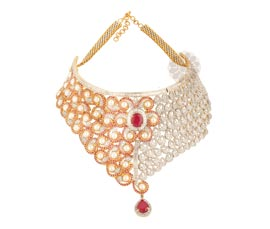 Vogue Crafts and Designs Pvt. Ltd. manufactures Designer Pearl Necklace at wholesale price.