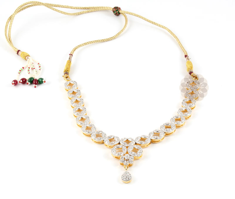 Latest Design Jewelry - Special Occasion Gold Plated Necklace .