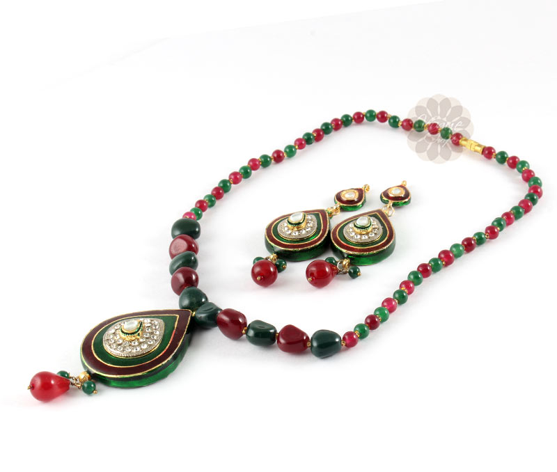 Vogue Crafts & Designs Pvt. Ltd. manufactures Favourite Multicolor Meenakari Necklace at wholesale price.