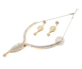 Vogue Crafts and Designs Pvt. Ltd. manufactures The Gracious Earrings-Necklace set at wholesale price.