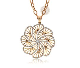 Vogue Crafts and Designs Pvt. Ltd. manufactures Captivating Intricacy Golden Pendant at wholesale price.