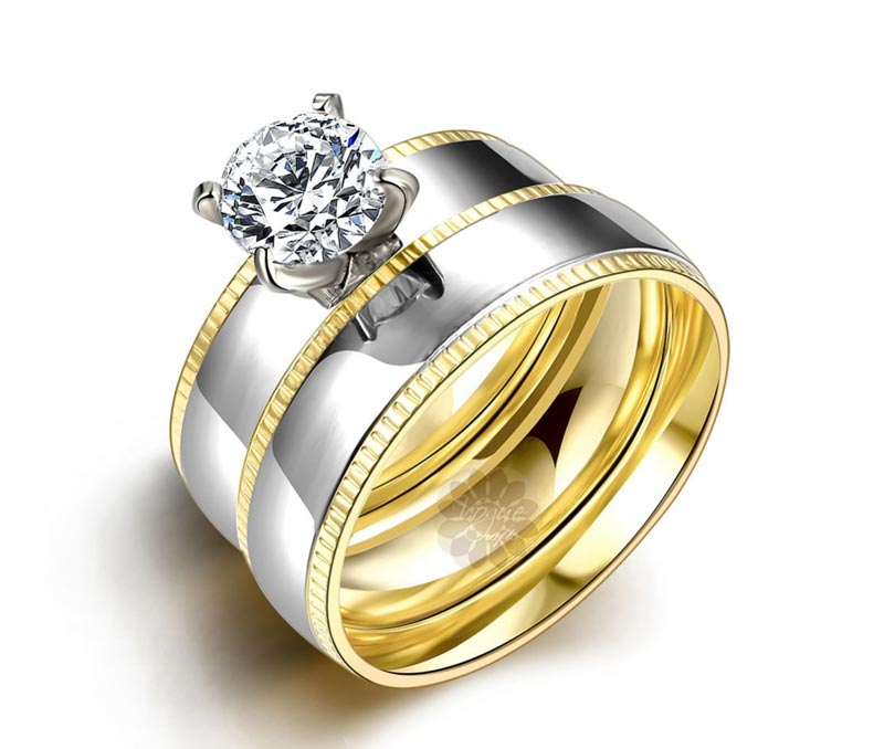 Vogue Crafts & Designs Pvt. Ltd. manufactures One Stone Pretty Stack Ring at wholesale price.