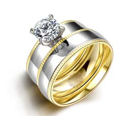 Vogue Crafts and Designs Pvt. Ltd. manufactures One Stone Pretty Stack Ring at wholesale price.