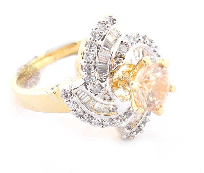 Vogue Crafts & Designs Pvt. Ltd. manufactures Glare Flare Gold Plated Ring at wholesale price.