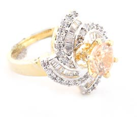 Vogue Crafts and Designs Pvt. Ltd. manufactures Glare Flare Gold Plated Ring at wholesale price.