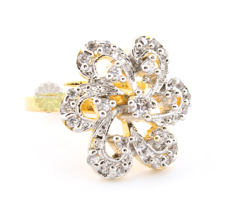Vogue Crafts & Designs Pvt. Ltd. manufactures Famous Stone Flower Ring at wholesale price.