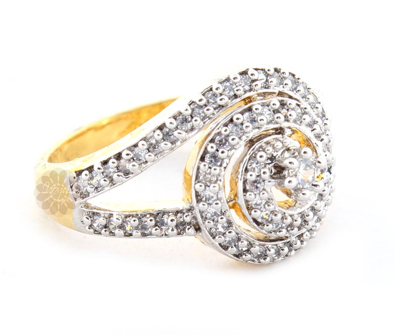 Vogue Crafts & Designs Pvt. Ltd. manufactures Gold Plated Stoned Ring at wholesale price.