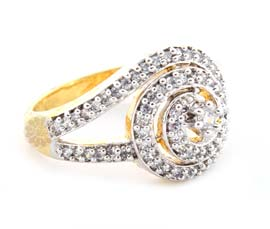 Vogue Crafts and Designs Pvt. Ltd. manufactures Gold Plated Stoned Ring at wholesale price.