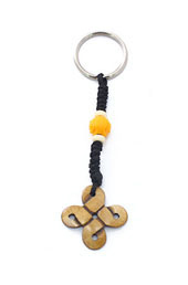 Carved Out Knot Keyring