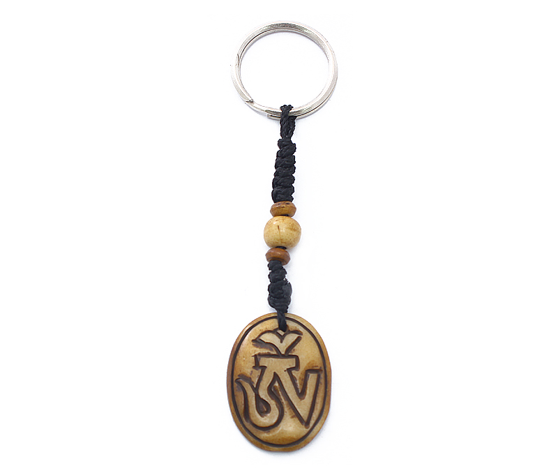 Latest Design Jewelry - Oval Om Keyring .