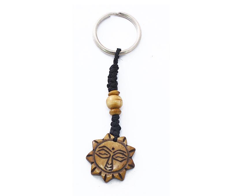 Latest Design Jewelry - Carved Sun Keyring .
