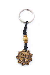 Vogue Crafts and Designs Pvt. Ltd. manufactures Carved Sun Keyring at wholesale price.