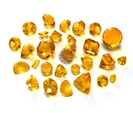Golden topaz