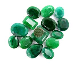 Vogue Crafts and Designs Pvt. Ltd. manufactures Green emerald at wholesale price.
