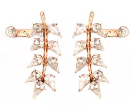 Vogue Crafts and Designs Pvt. Ltd. manufactures Gold-plated Leaf Earring at wholesale price.