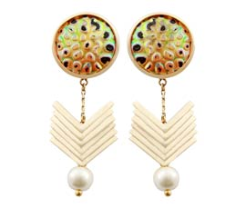 Vogue Crafts and Designs Pvt. Ltd. manufactures Gold Plated Shell Earrings at wholesale price.