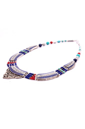 Vogue Crafts and Designs Pvt. Ltd. manufactures Lines of Blue Necklace at wholesale price.