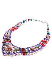 Vogue Crafts and Designs Pvt. Ltd. manufactures Blue Outline Necklace at wholesale price.