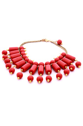 Vogue Crafts and Designs Pvt. Ltd. manufactures Rows of Coral Necklace at wholesale price.