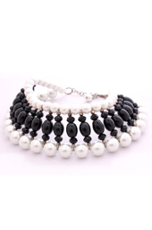 Vogue Crafts and Designs Pvt. Ltd. manufactures Pearl and Black Chocker Necklace at wholesale price.