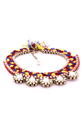 Vogue Crafts and Designs Pvt. Ltd. manufactures Braid and Pearls Necklace at wholesale price.