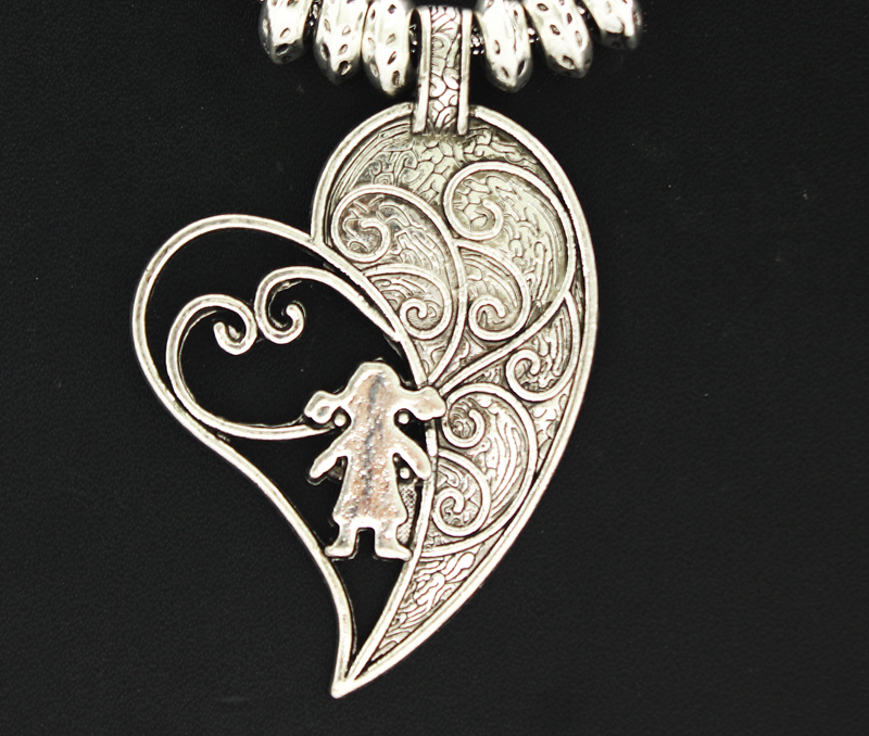 Vogue Crafts & Designs Pvt. Ltd. manufactures Designer Sterling Silver Heart Pendant at wholesale price.