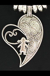 Vogue Crafts and Designs Pvt. Ltd. manufactures Designer Sterling Silver Heart Pendant at wholesale price.
