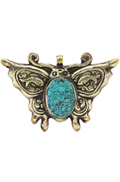 Vogue Crafts and Designs Pvt. Ltd. manufactures Carved Butterfly Pendant at wholesale price.