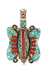 Vogue Crafts and Designs Pvt. Ltd. manufactures Stoned Butterfly Pendant at wholesale price.