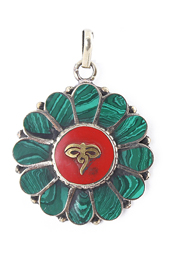 Malachite Buddha Eye Pendant
