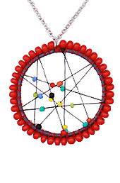The Circle of Red Pendant
