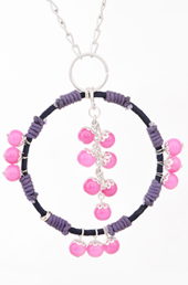 Vogue Crafts and Designs Pvt. Ltd. manufactures The Dark Pink Beads Pendant at wholesale price.