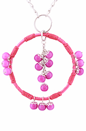 Vogue Crafts and Designs Pvt. Ltd. manufactures The Pink Beads Pendant at wholesale price.