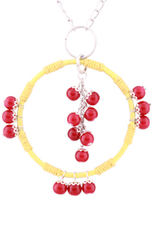 Vogue Crafts and Designs Pvt. Ltd. manufactures The Maroon Beads Pendant at wholesale price.