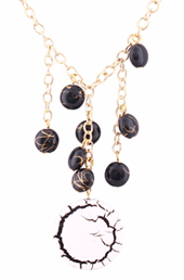 Vogue Crafts and Designs Pvt. Ltd. manufactures The Crackeled Bead Pendant at wholesale price.