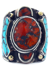Vogue Crafts and Designs Pvt. Ltd. manufactures Coral Center Ring at wholesale price.