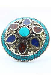 Vogue Crafts and Designs Pvt. Ltd. manufactures The Blue Petals Ring at wholesale price.
