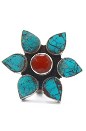 Vogue Crafts and Designs Pvt. Ltd. manufactures Stoned Flower Ring at wholesale price.