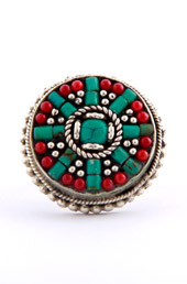 Vogue Crafts and Designs Pvt. Ltd. manufactures Surrounded by Turquoise Ring at wholesale price.