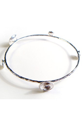 Scoops of Silver Bangle