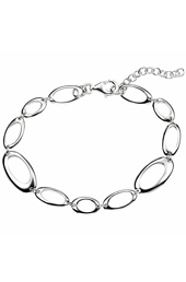 Oval Link Silver Bracelet